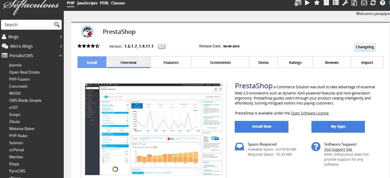 Prestashop Cloud Web Hosting