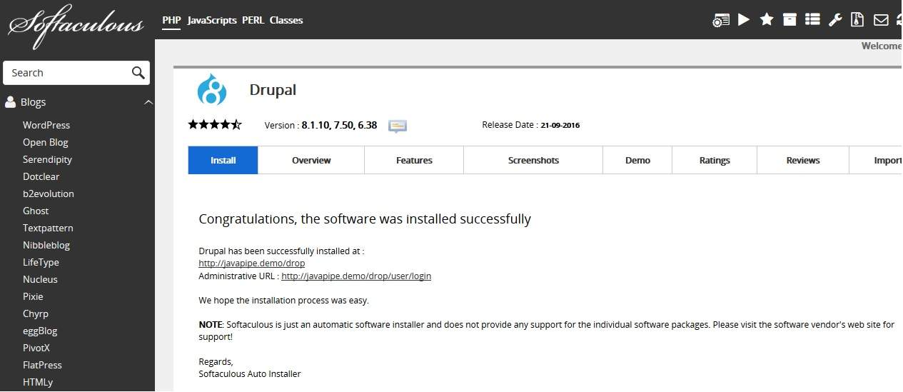 Setup Drupal on shared hosting