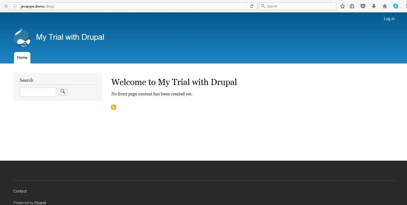 Drupal default install