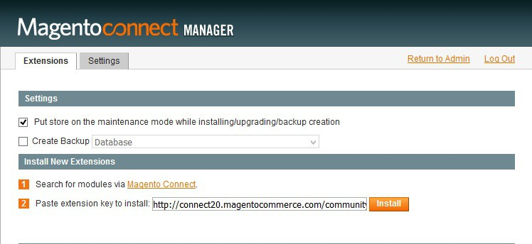 Installing a Magento extension