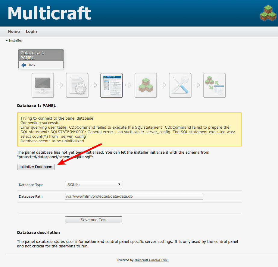 how to use multicraft control panel